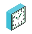 Table clock icon isometric 3d style vector image