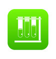 three beakers icon digital green vector image vector image