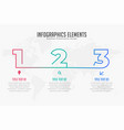 three steps infographic timeline template vector image vector image