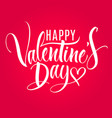 valentine day lettering vector image vector image