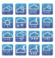 weather flat icons meteorology symbol vector image