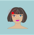 woman having headache migraine and pain vector image