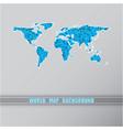 world triangular blue map vector image