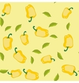 Yellow pepper seamless texture 562 vector image vector image