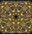 ornate seamless pattern of golden mandala on black vector image