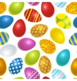 Bright colourful easter eggs seamless pattern vector image