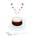 A Cup of Iced Coffee with Ice Cream vector image vector image