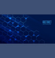 abstract technology background with molecular vector image