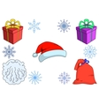 Attributes of the Santa Claus wi vector image vector image