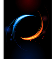 Banner of red and blue flames vector image vector image