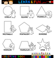Basic Shapes with Animals for Coloring vector image