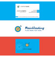 beautiful dart logo and business card vertical vector image vector image