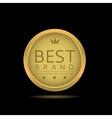 Best brand label vector image vector image