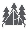 camping tent glyph icon travel and tourism vector image vector image