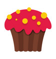 cartoon tasty cake isolated on white background vector image vector image