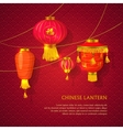 Chinese lanterns set concept vector image vector image