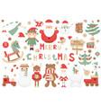 christmas clip arts vector image