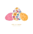 colorful oriental flowers three matching vector image