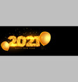 creative new year 2021 in golden sparkle vector image