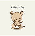 cute animals for mothers day vector image vector image