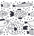 cute cartoon fish seamless pattern vector image vector image