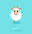 cute goat symbol of 2015 vector image vector image
