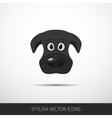 dog face flat icon vector image vector image