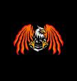 eagle esports logo design eagle team mascot vector image vector image