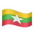 Flag of Myanmar waving vector image