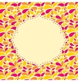 Floral Background with Flowers and Place for your vector image vector image