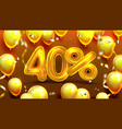 forty percent or 40 marketing sale offer vector image vector image