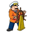 Funny captain or yachstman vector image