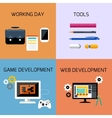 Game web development and business tools icon set vector image vector image