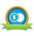 Gold dollar coin logo vector image vector image