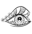 Graphic abstracy eyes of black and white shapes vector image vector image