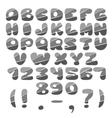 Gray cut Alphabet vector image vector image