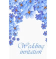 greeting card watercolor can be used vector image