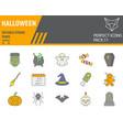 halloween color line icon set holiday symbols vector image vector image