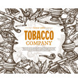 hand drawn posters with tobacco or smoking vector image vector image