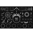 Hand drawn tribal collection with bow and arrows vector image vector image