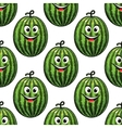 Happy green watermelon seamless pattern vector image vector image