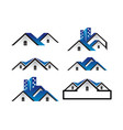 house logo template collection vector image vector image