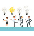 idea bulb concept business startup picture smart vector image vector image