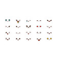 kawaii smile emoticons japanese emoji vector image vector image