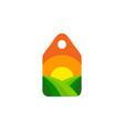 label farm logo icon design vector image