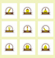 label icon on design sticker collection spice vector image vector image