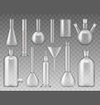 laboratory flasks test tubes and containers vector image vector image