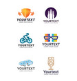 logo collections for different types of businesses vector image