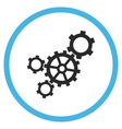 Mechanism Flat Rounded Icon vector image vector image