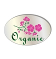 natural organic flower icon vector image vector image